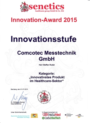 Urkunde Innovation Award 2015