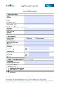 Personalstammbogen