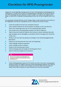 Checkliste für KFO-Praxisgründer