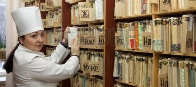 Dokumentenablage in russischer Klinik