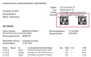 ISH QR-Codes auf ivoris GOZ-Rechnungen