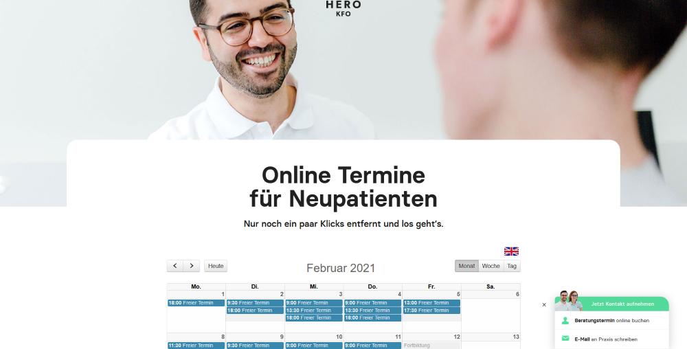 Online-Terminkalender Hero-KFO