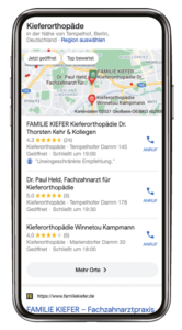 Suchergebnisse Google My Business